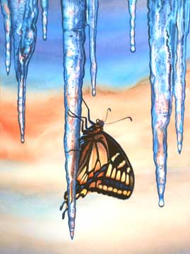 Icy, 2009, watercolor