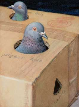 Small pigeon holes, 2009, watercolor